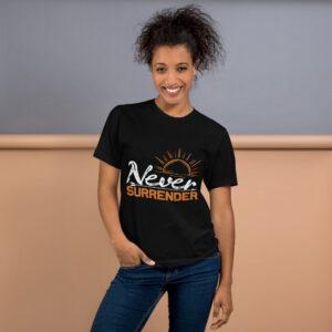 Never surrender – Camiseta unisex, American Apparel 2001