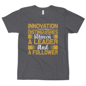 Innovation distinguishes – Camiseta unisex, American Apparel 2001