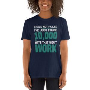 I have not failed – Camiseta unisex Gildan kp64000