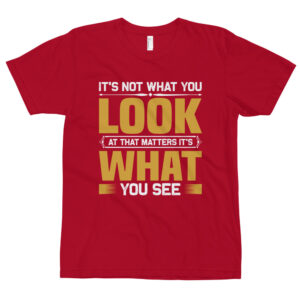 It's not what you look – Camiseta unisex, American Apparel 2001